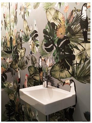 Tapete für Badezimmer Pattern Studio