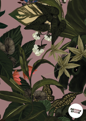 PATTERNSTUDIO FLORA&FAUNA JUNGLE in ROSA
