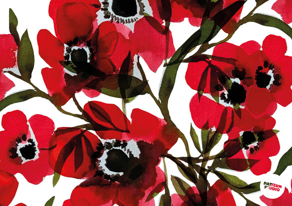 PATTERNSTUDIO FLORA&FAUNA POPPY