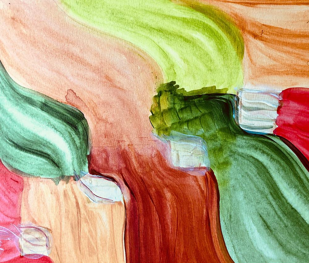 Pintura de Mariely Rivera llamada Egos para Domar