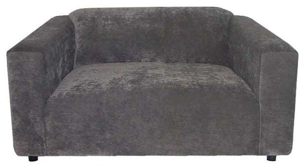 contemporary loveseat in wicked grey