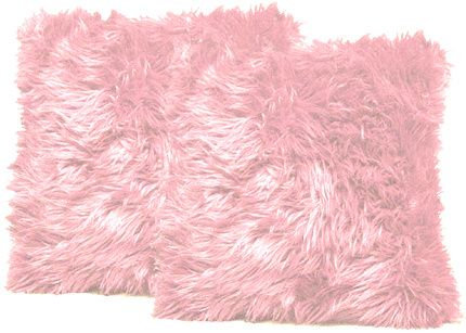 Baby Pink Faux Fur Pillows
