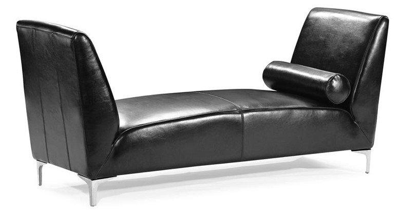 Black Chaise Lounge