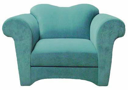 Custom Blue Upholstered Chair