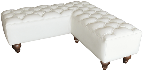 tufted l shaped bench