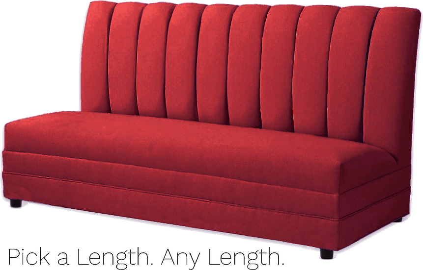 red channel tufted dining booth bench