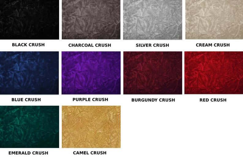 Crush Fabric Selection