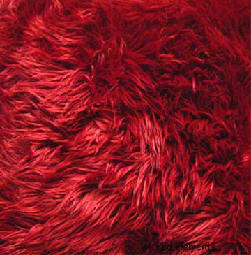 Fabric, Faux Fur, Red, By The Yard