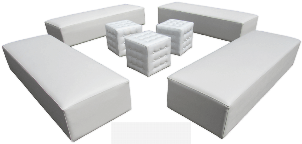 white lounge furniture package