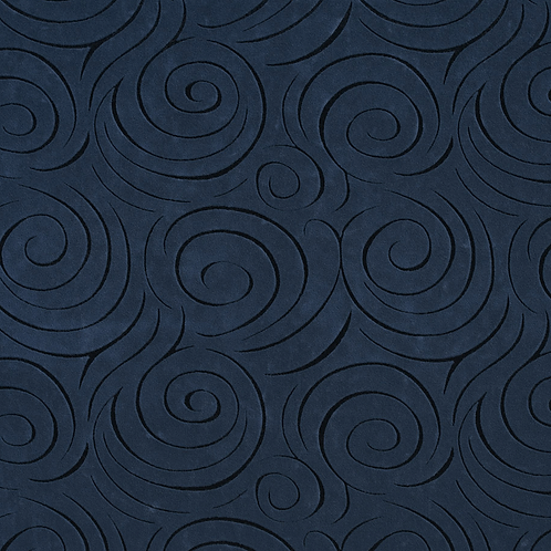 navy blue swirl fabric