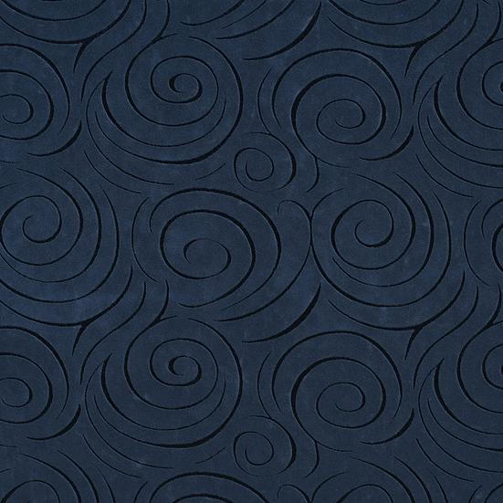 navy blue swirl fabric