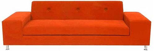 Custom Sleek Orange Sofa