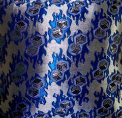 Metallic Dice Design Upholstery Fabric