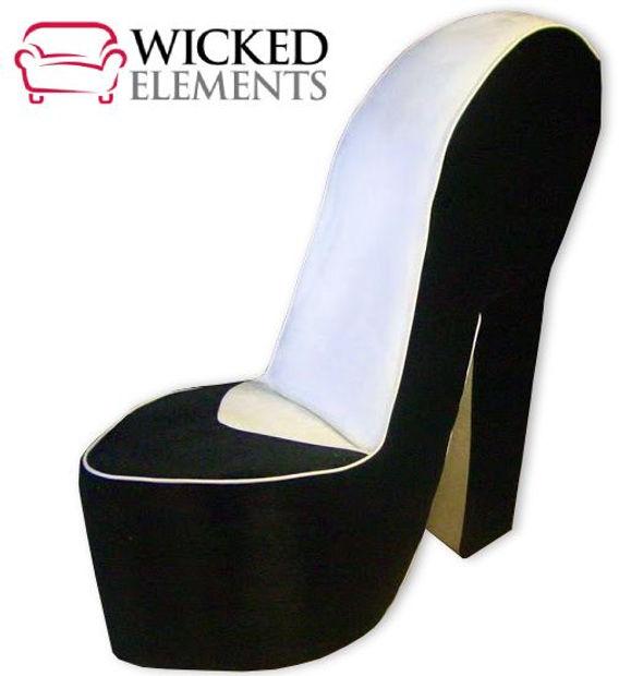 Black & White Shoe Chair