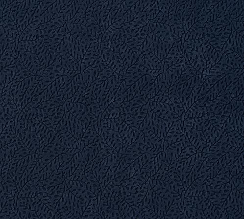 Navy Blue Vine Fabric