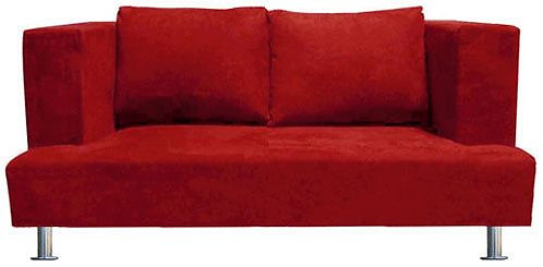 Red Custom Designer Loveseat