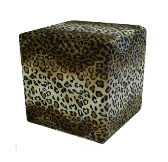 Leopard Ottoman