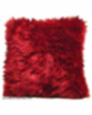 Red Fur Pillow