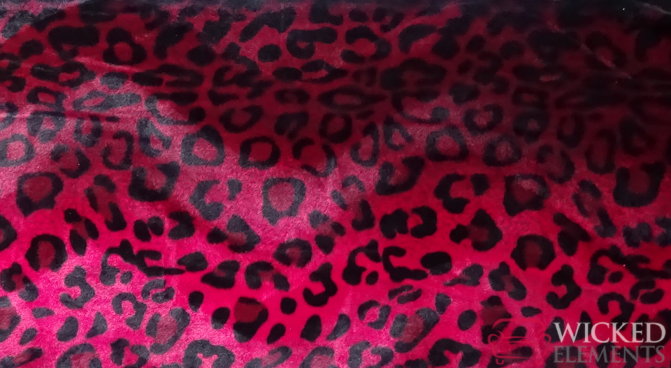 Red Leopard Fabric
