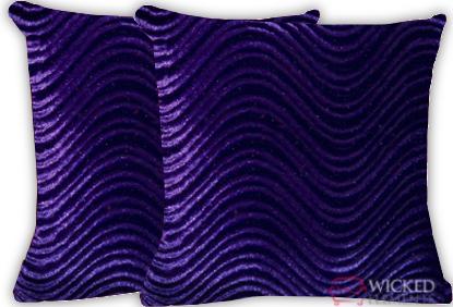 Purple Swirl Pillow Set