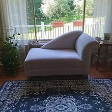 Cleopatra chaise lounge in wicked swirl platinum