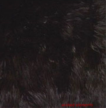 Fabric, Faux Fur, Black, By The Yard