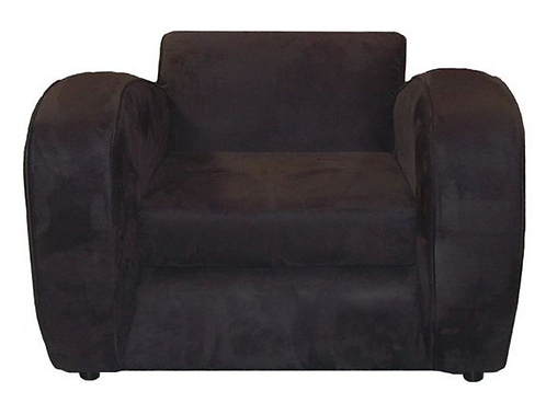 Suede Black Modern Chair