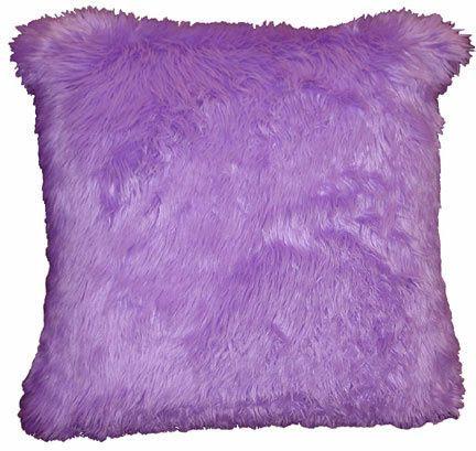 Pillows, Faux Fur, Lilac, Large