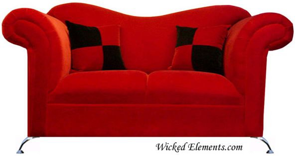 red enchanted loveseat