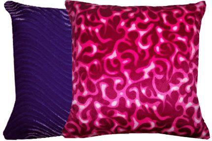 Swirl Purple & Pink Flames Pillows