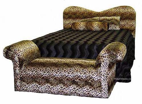 Leopard Bed & Bench Set