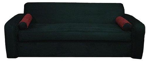 Custom Suede Black Modern Sofa