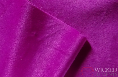 Magenta Short Fur Fabric