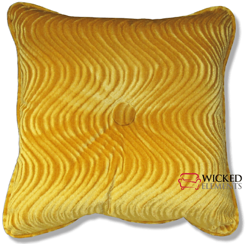 Yellow Tufted Pillow