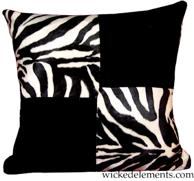 Zebra Checkered Pillow