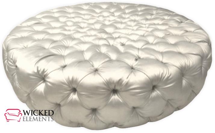 deep tufted round ottoman