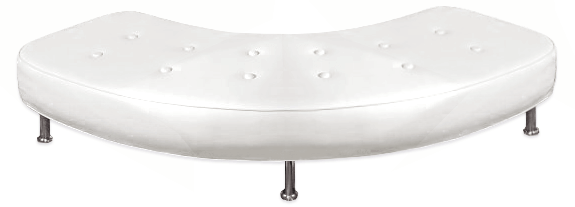 Tufted Curved Bench