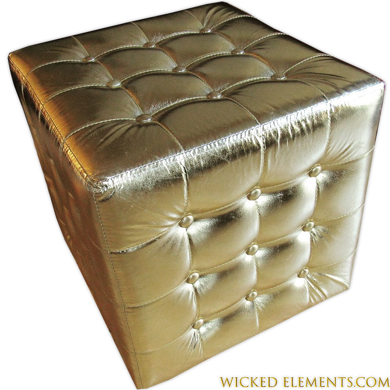Fantastic Tufted Gold Cube Ottoman Pdpeps Interior Chair Design Pdpepsorg