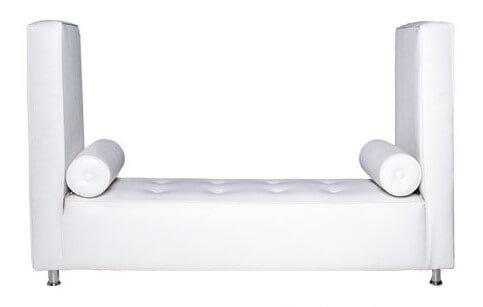 White Chaise Lounge