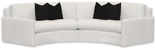 2 Piece Curved Sectional