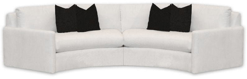 two piece curved sectional