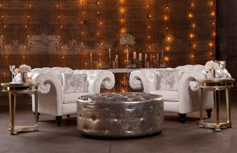 white tufted chairs