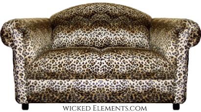 leopard loveseat