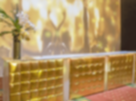 Gold Leatherette Patio Bar Package