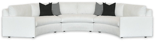 white curved sectional