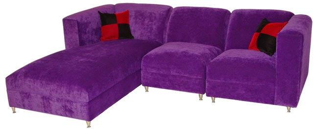 purple contemporary sofa