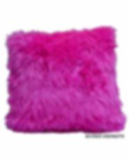 Hot Pink Faux Fur Pillow