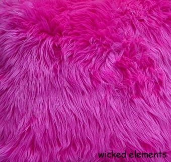 Fabric, Faux Fur, Hot Pink, By The Yard