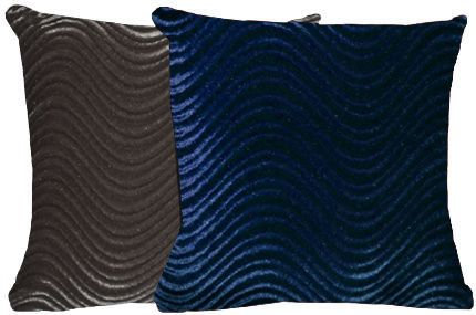 Blue & Silver Swirl Pillow Set