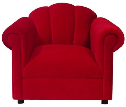 Red Custom Flair Back Chair